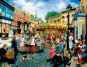 Large Format Jigsaw Puzzles - Carousel on the Square