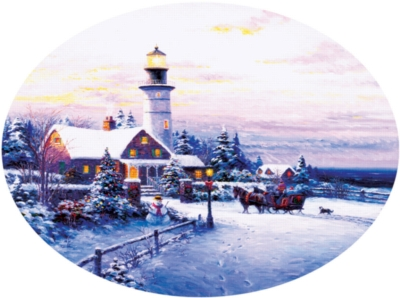 Towards the Light - 600pc Round Jigsaw Puzzle By Sunsout