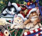 Meow-y Christmas - 550pc Jigsaw Puzzle by Sunsout