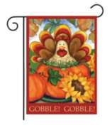 Autumn Turkey - Garden Flag by Toland