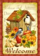 Autumn Birds - Garden Flag by Toland