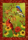 Birds 'n Berries - Garden Flag by Toland