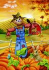 Scarecrow Buddies - Garden Flag by Toland