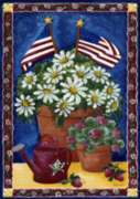 American Daisies - Garden Flag by Toland