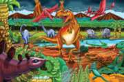 Cobble Hill Children's Puzzles - Dinosaur Volcano