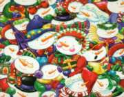 Smiling Snowmen - 1000pc Jigsaw Puzzle
