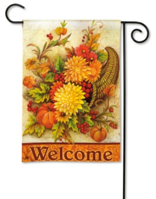 Harvest Mums - Garden Flag by Magnet Works