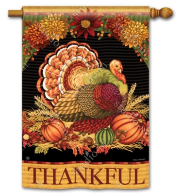 Give Thanks Turkey - Standard Flag by Magnet Works