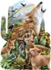 Coyote Moon - 1000pc Shaped Jigsaw Puzzle By Sunsout