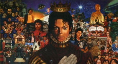 Michael Jackson: Michael - 1000pc Panoramic Jigsaw Puzzle by University Games