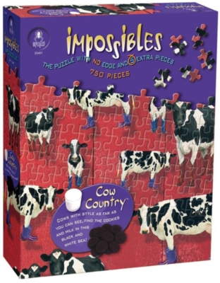 Puzzles for Adults - Impossibles: Cow Country