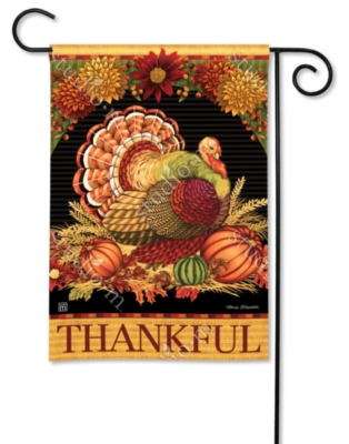 Give Thanks Turkey - Garden Flag by Magnet Works