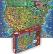 Children's Map Of The USA - Giant 500pc Jigsaw Puzzle
