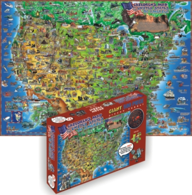 Educational Puzzles - Children's Map Of The USA