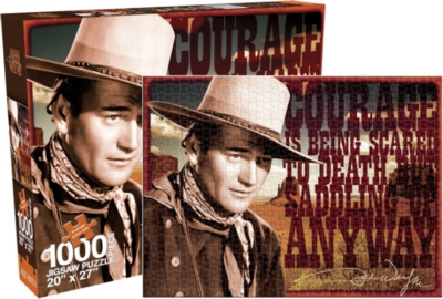 John Wayne - Courage - 1000pc Jigsaw Puzzle by Aquarius