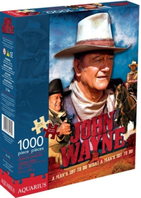 John Wayne - Movie - 1000pc Jigsaw Puzzle by Aquarius