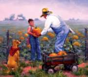 Grandpa's Pumpkins - 300pc Large Format Jigsaw Puzzle By Sunsout