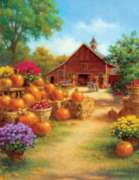 Barn Pumpkins - 1000pc Large Format Jigsaw Puzzle By Sunsout