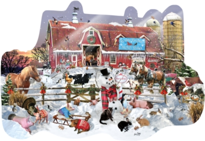 Shaped Jigsaw Puzzles - Winter Snowfall