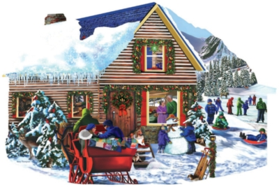 Snowbound - 1000pc Shaped Jigsaw Puzzle By Sunsout