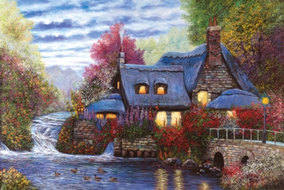 Sunset Cottage - 1000pc Jigsaw Puzzle by Tomax