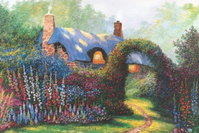 Floral Arch - 1000pc Jigsaw Puzzle by Tomax