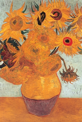 Vase with Twelve Sunflowers - 1000pc Jigsaw Puzzle by Tomax