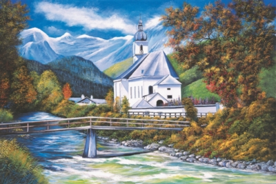The Church Of Ramsau - 1000pc Jigsaw Puzzle by Tomax