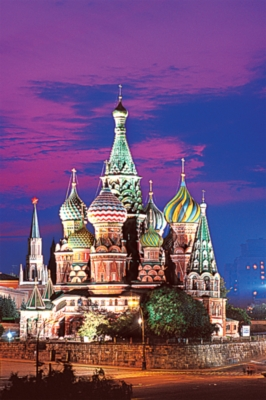 St Basil's Cathedral, Moscow - 1000pc Glow-in-the-Dark Jigsaw Puzzle by Tomax