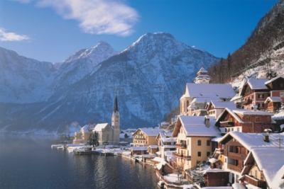 Hallstatt, Austria - 1000pc Glow-in-the-Dark Jigsaw Puzzle by Tomax