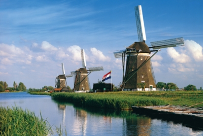 Windmill, Netherlands - 1000pc Jigsaw Puzzle by Tomax