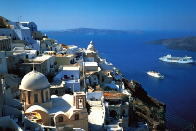 Santorini, Greece - 1000pc Jigsaw Puzzle by Tomax