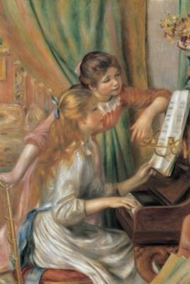 Two Young Girls At The Piano - 1000pc Jigsaw Puzzle by Tomax