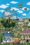Carnival Time In Willow Bend - 1000pc Jigsaw Puzzle by Tomax