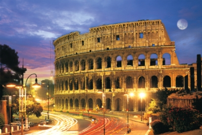 Rome Colosseum - 1000pc Glow-in-the-Dark Jigsaw Puzzle by Tomax