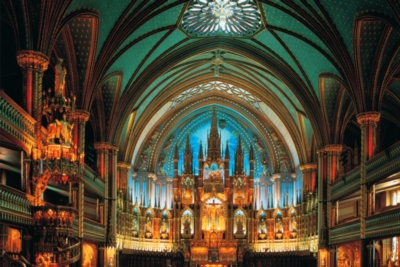 Norte Dame De Montreal, Canada - 1000pc Glow-in-the-Dark Jigsaw Puzzle by Tomax