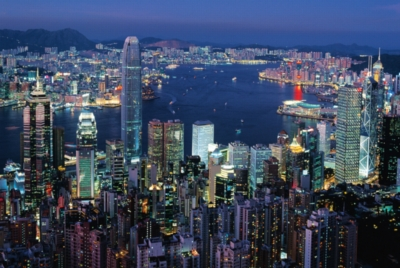 Hong Kong By Night - 1000pc Glow-in-the-Dark Jigsaw Puzzle by Tomax