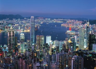 Hong Kong By Night - 2000pc Jigsaw Puzzle by Tomax