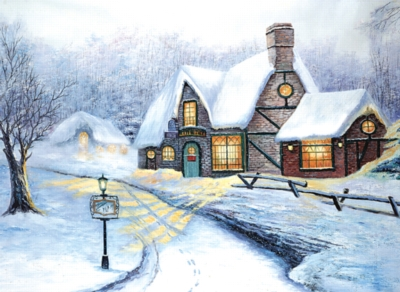 Snowy Journey - 500pc Jigsaw Puzzle by Tomax