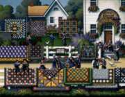 Amish Quilts - 500pc Jigsaw Puzzle by Dowdle