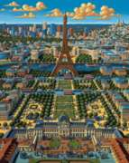 Paris - 500pc Jigsaw Puzzle by Dowdle