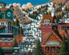 Ski Park City - 500pc Jigsaw Puzzle by Dowdle