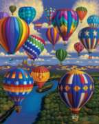 Balloon Festival - 500pc Jigsaw Puzzle by Dowdle