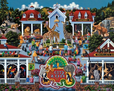Dowdle Jigsaw Puzzles - Day at the Zoo