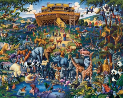 Noah's Ark - 1000pc Jigsaw Puzzle by Dowdle