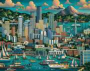 Seattle - 1000pc Jigsaw Puzzle by Dowdle