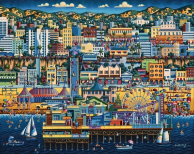 Santa Monica - 1000pc Jigsaw Puzzle by Dowdle