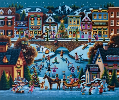 Hometown Christmas - 1000pc Jigsaw Puzzle by Dowdle