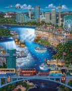 Niagara Falls - 1000pc Jigsaw Puzzle by Dowdle