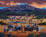 African Safari - 100pc Jigsaw Puzzle by Dowdle